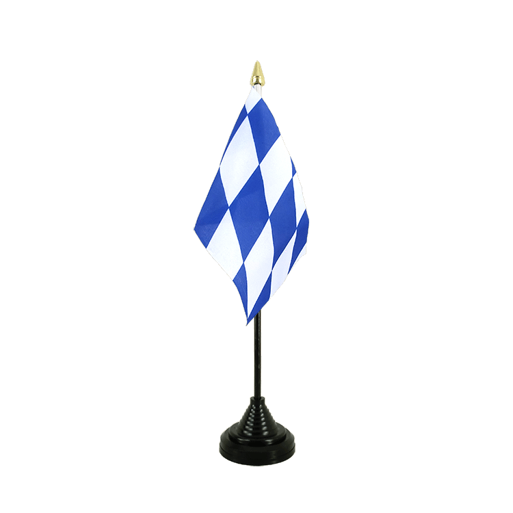 "Desk and Table Flag Bavaria without crest - 4x6"" (10 x 15 cm)"