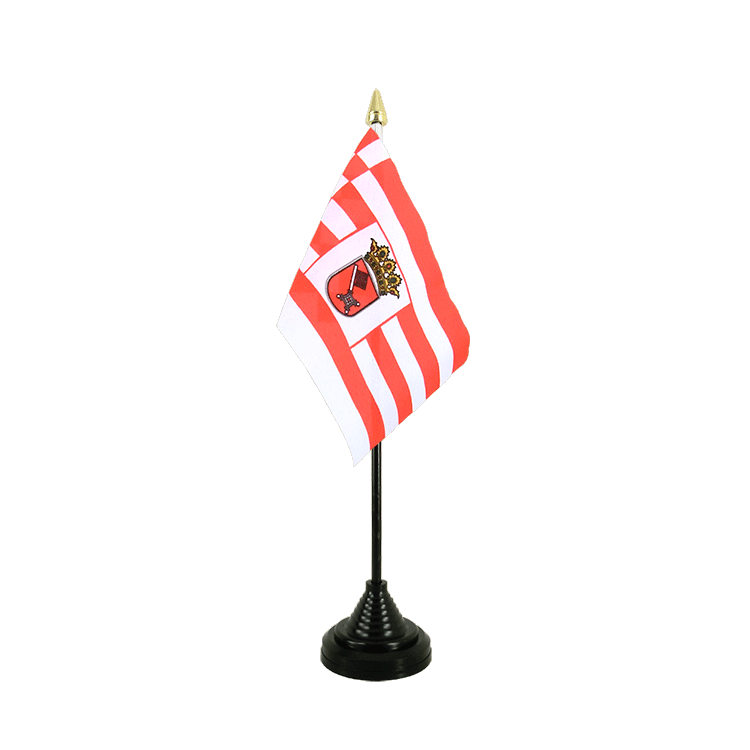 "Table Flag Bremen - 4x6"" (10 x 15 cm)"