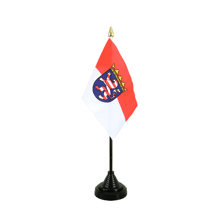 "Table Flag Hesse - 4x6"" (10 x 15 cm)"