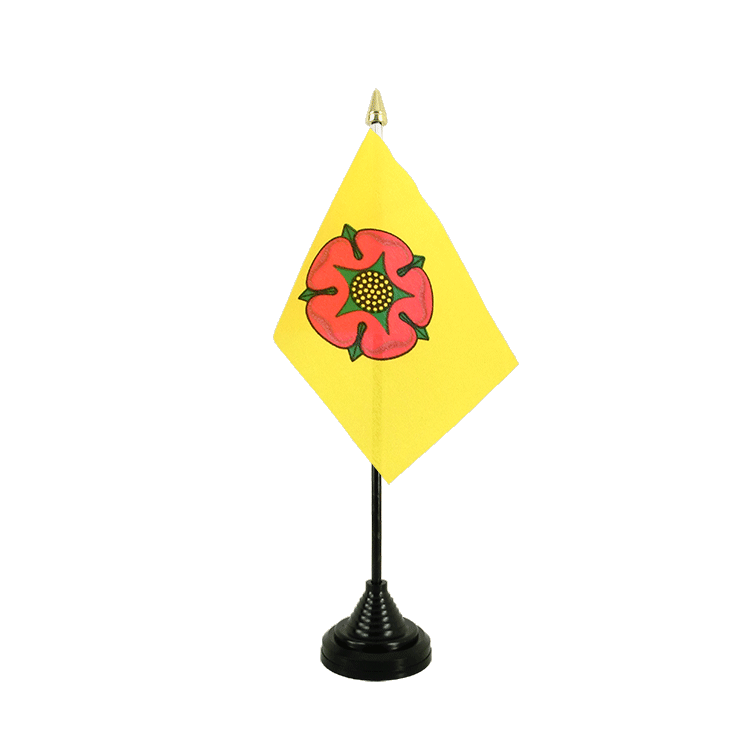 "Desk and Table Flag Lancashire new - 4x6"" (10 x 15 cm)"