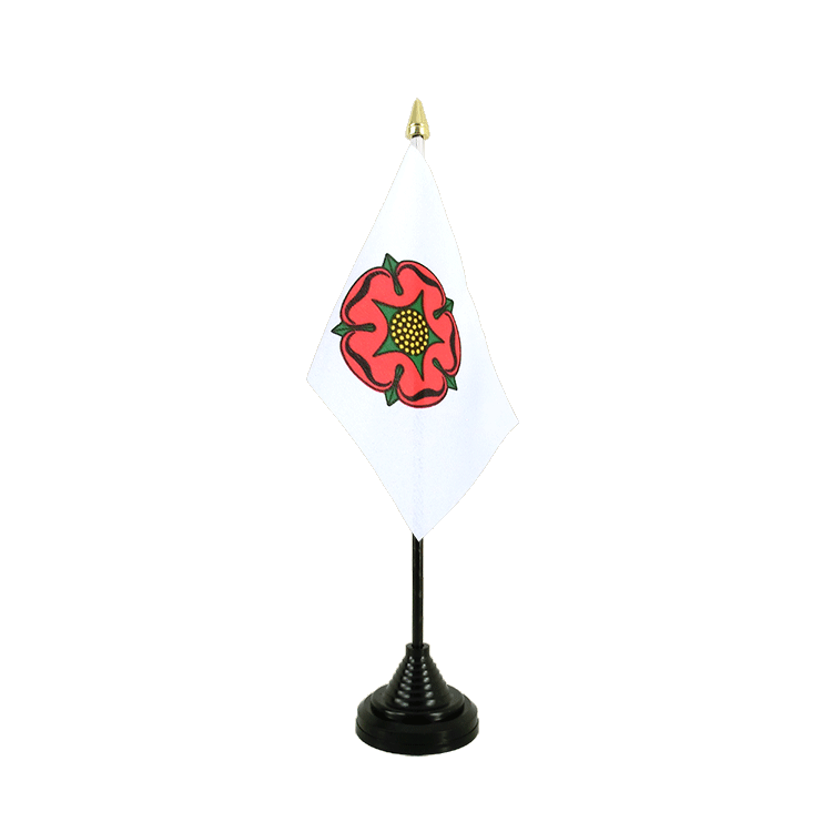 Mini drapeau de table Lancashire rose rouge 10x15 cm
