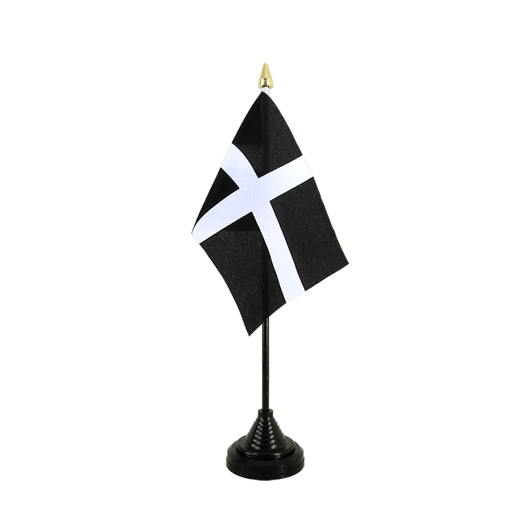 "Table Flag St. Piran Cornwall - 4x6"" (10 x 15 cm)"