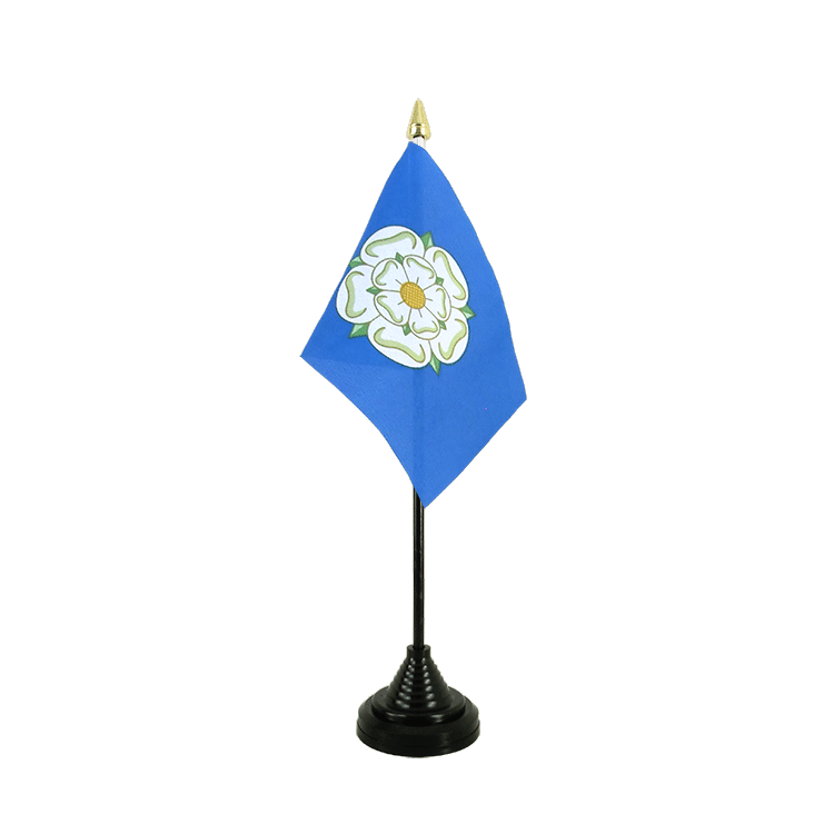 Yorkshire new Table Flag 4x6""
