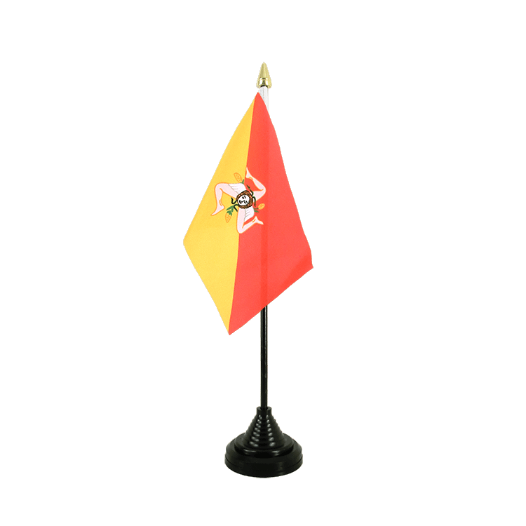 "Table Flag Italy Sicily - 4x6"" (10 x 15 cm)"