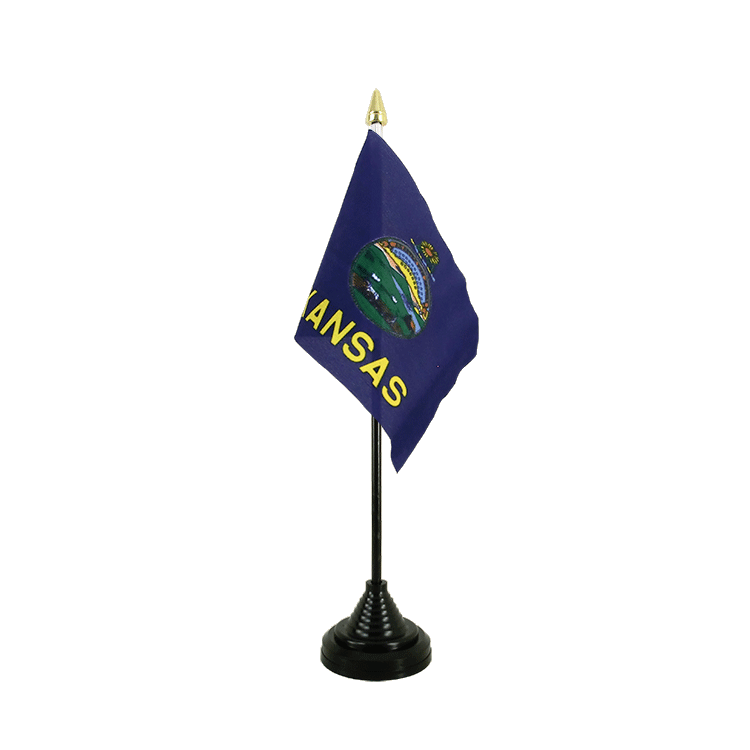 "Table Flag Kansas - 4x6"" (10 x 15 cm)"
