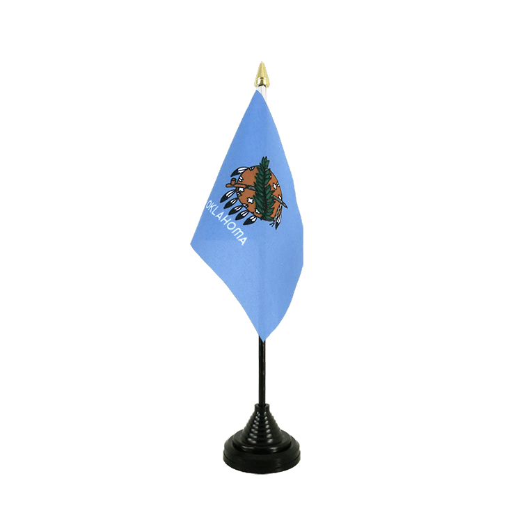 "Table Flag Oklahoma - 4x6"" (10 x 15 cm)"