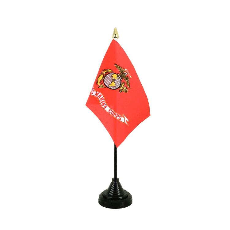 "Desk and Table Flag US Marine Corps - 4x6"" (10 x 15 cm)"