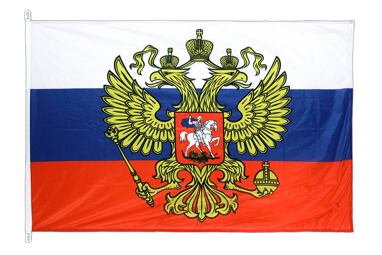 Flag PRO Russia with crest - 100 x 150 cm