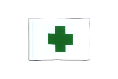 Mini Flag Green Cross - 4x6""