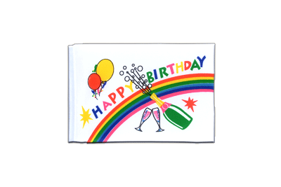 Fanion drapeau Happy Birthday 10x15 cm