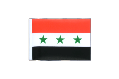 Mini Flag Iraq without writing 1963-1991 - 4x6""