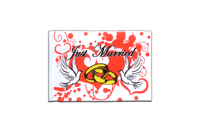 Mini Just Married Flag 4x6""