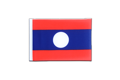 Mini Flag Laos - 4x6""