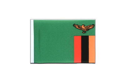 Mini Flag Zambia - 4x6""