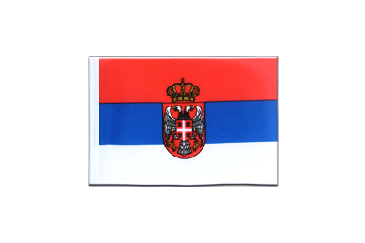Mini Flag Serbia with crest - 4x6""