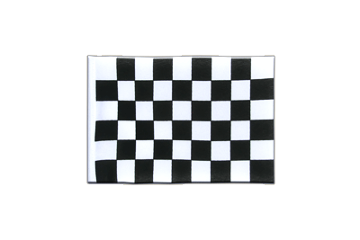 Mini Flag Checkered - 4x6""