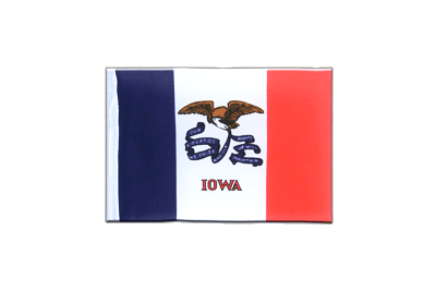 Mini Flag Iowa - 4x6""