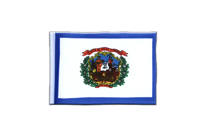 Mini Flag West Virginia - 4x6""