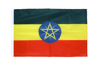 Sleeved Flag PRO Ethiopia with star - 2x3 ft
