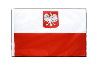 Sleeved Flag PRO Poland with eagle - 2x3 ft