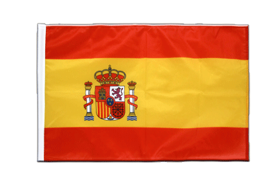 Sleeved Flag PRO Spain with crest - 2x3 ft