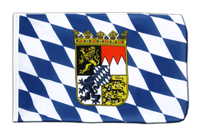 Sleeved Flag ECO Bavaria with crest - 2x3 ft