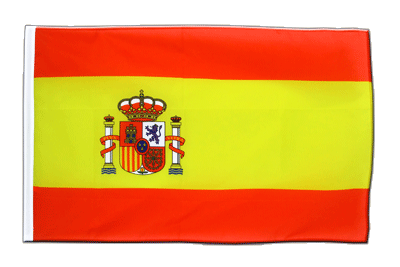 Sleeved Flag ECO Spain with crest - 2x3 ft