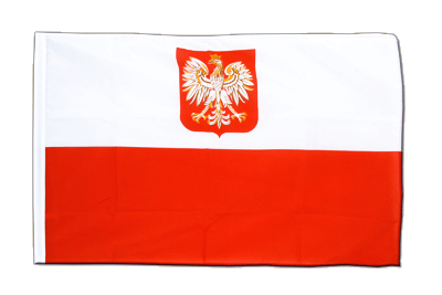 Sleeved Flag ECO Poland with eagle - 2x3 ft
