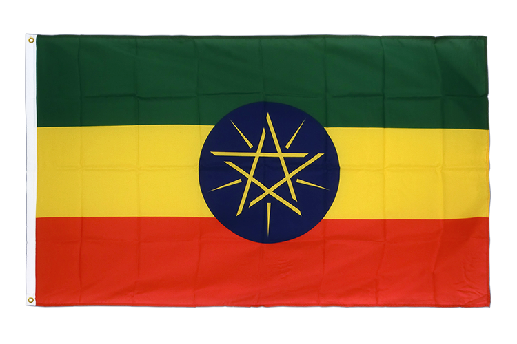 Premium Flag Ethiopia with star - 3x5 ft CV