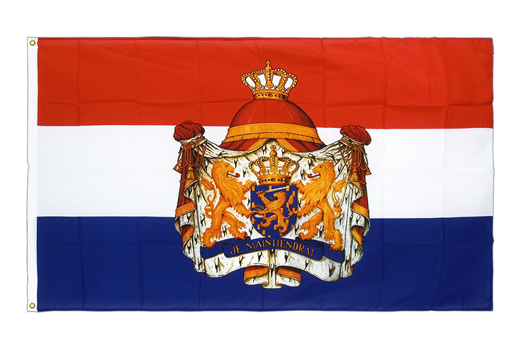 Premium Flag Netherlands with crest - 3x5 ft CV