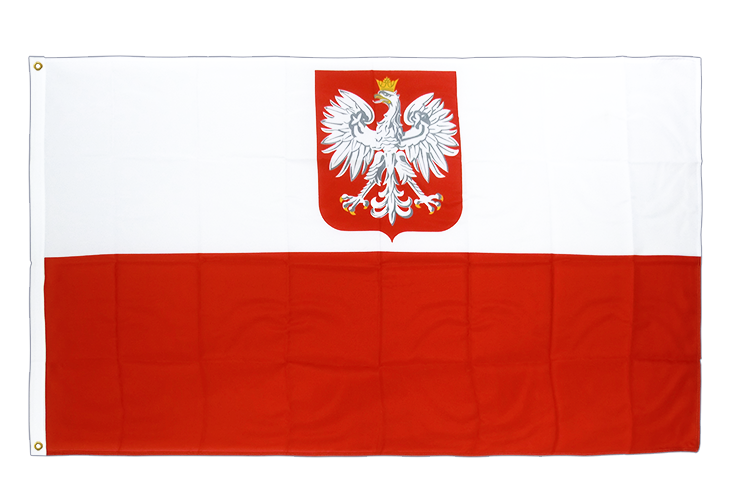 Premium Flag Poland with eagle - 3x5 ft CV
