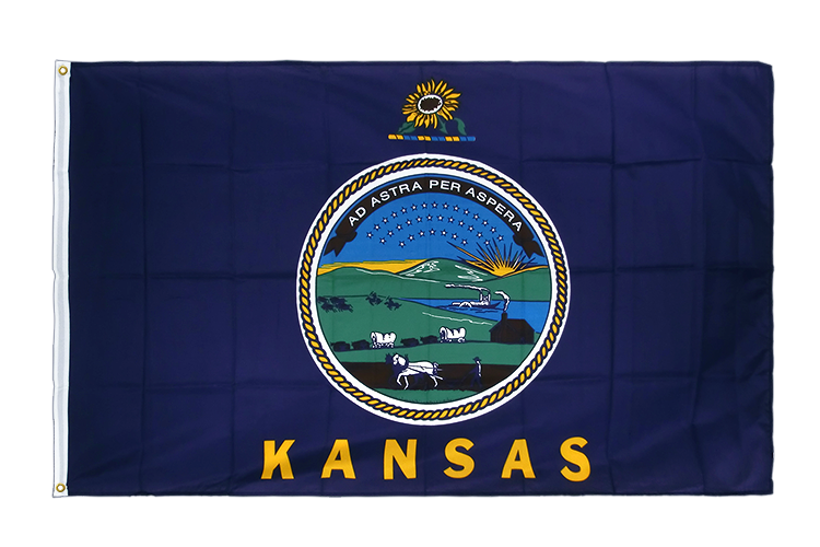 Premium Flag Kansas - 3x5 ft CV