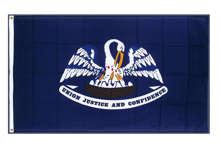 drapeau de qualit u00e9   louisiane - 90 x 150 cm cv