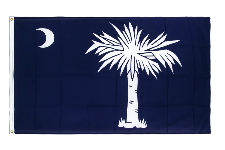 Drapeau qualité Caroline du Sud (South Carolina), 105 g/m2 - 90 x 150 cm CV