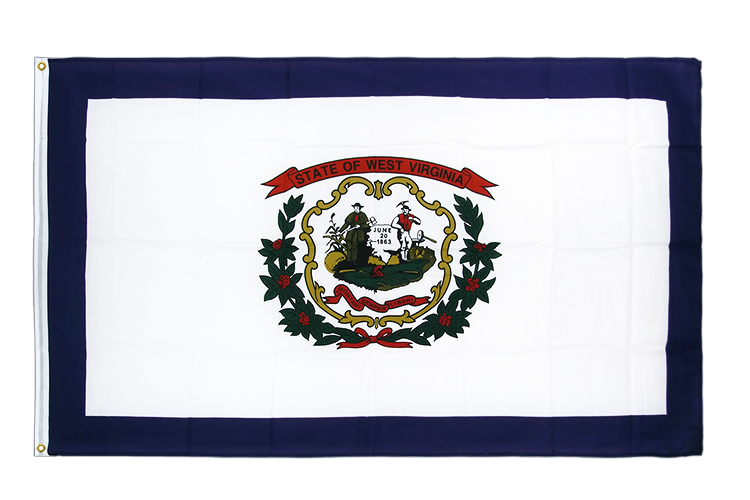 Drapeau qualité Virgine-Occidentale (West Virginia), 105 g/m2 - 90 x 150 cm CV