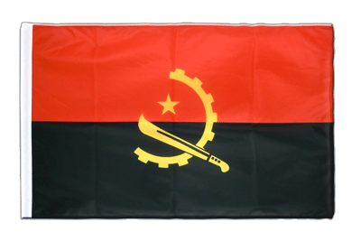 Sleeved Flag PRO Angola - 2x3 ft