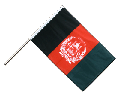 Hand Waving Flag PRO Afghanistan - 2x3 ft (60 x 90 cm)