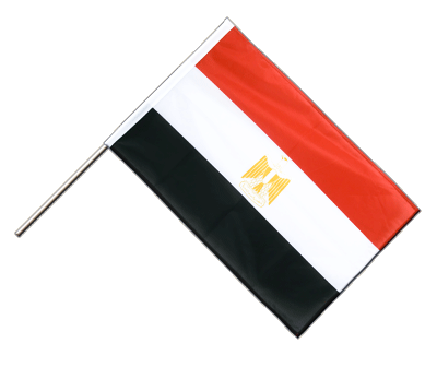 Hand Waving Flag PRO Egypt - 2x3 ft (60 x 90 cm)