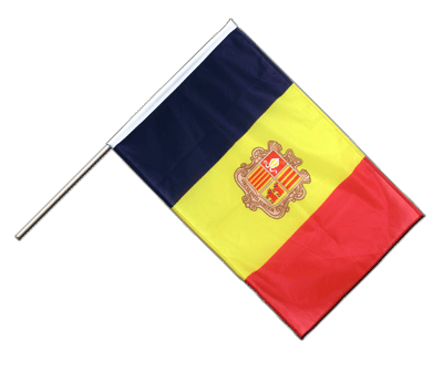 Hand Waving Flag PRO Andorra - 2x3 ft (60 x 90 cm)