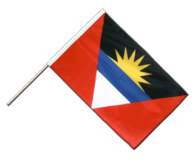 Hand Waving Flag PRO Antigua and Barbuda - 2x3 ft (60 x 90 cm)