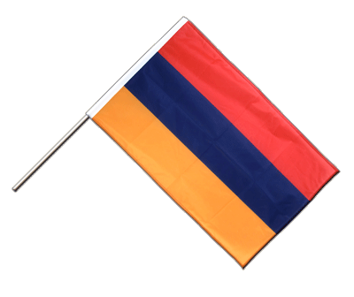Hand Waving Flag PRO Armenia - 2x3 ft (60 x 90 cm)