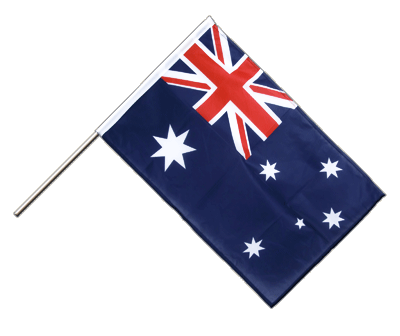 Hand Waving Flag PRO Australia - 2x3 ft (60 x 90 cm)
