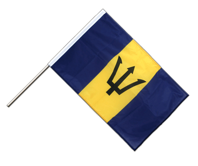 Hand Waving Flag PRO Barbados - 2x3 ft (60 x 90 cm)