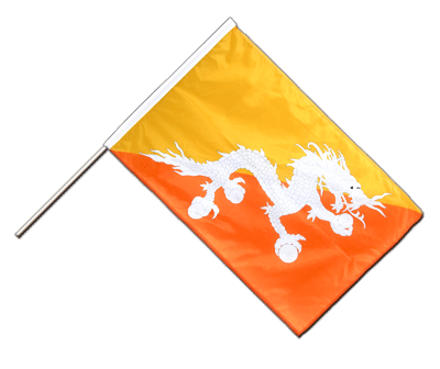 Hand Waving Flag PRO Bhutan - 2x3 ft (60 x 90 cm)