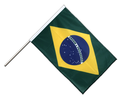 Hand Waving Flag PRO Brazil - 2x3 ft (60 x 90 cm)