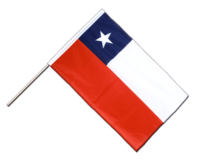 Hand Waving Flag PRO Chile - 2x3 ft (60 x 90 cm)