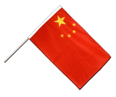 Hand Waving Flag PRO China - 2x3 ft (60 x 90 cm)