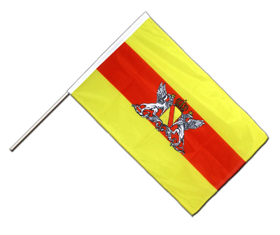Hand Waving Flag PRO Baden with crest - 2x3 ft (60 x 90 cm)
