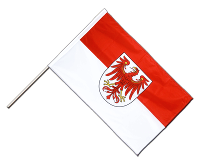 Hand Waving Flag PRO Brandenburg - 2x3 ft (60 x 90 cm)