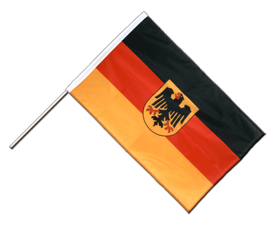 Hand Waving Flag PRO Germany Dienstflagge - 2x3 ft (60 x 90 cm)